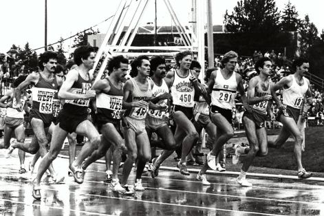1980 10,000m Olympic Trials (mavis is third from right).  Photo: lets run.com