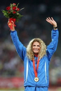 Winning her gold in the 2008 Beijing Olympics